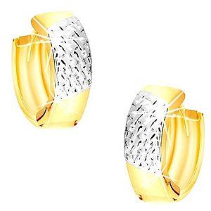 Okrúhle náušnice z kombinovaného 14K zlata - výplet v bielom zlate GG218.47 vyobraziť
