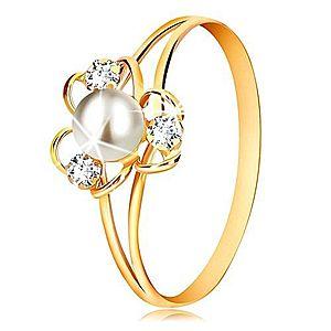 Prstene s perlou vyobraziť