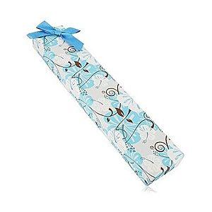 Darčeková krabička na retiazku alebo náramok - ibištek, modrá mašľa Y09.07 vyobraziť