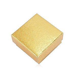 Darčeková krabička na dva prstene alebo náušnice - popínavá rastlina, zlatá farba Y05.15 vyobraziť