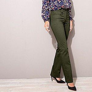 Twillové nohavice s gombíkmi khaki 36 vyobraziť