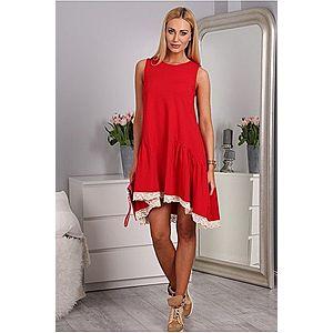 Červené šaty bavlnené vyobraziť