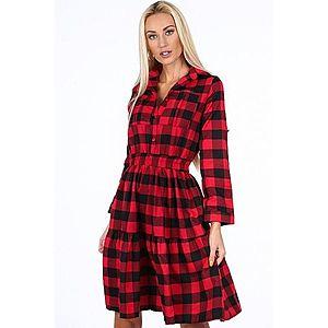 Čierno-červené kockované dámske šaty vyobraziť