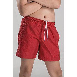 Chlapčenské kúpacie šortky červené vyobraziť
