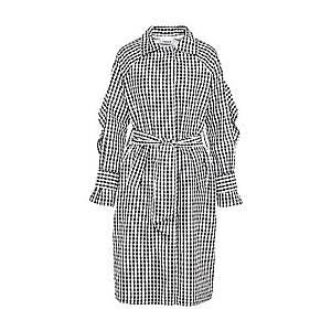 EDITED Prechodný kabát 'Bella' čierna / biela vyobraziť