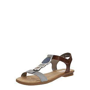 RIEKER Remienkové sandále sivá / hnedé vyobraziť