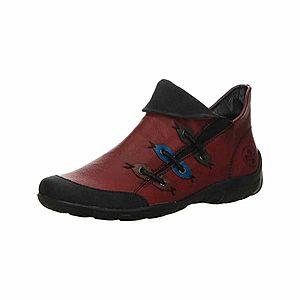 RIEKER Športové šnurovacie topánky hrdzavo červená / čierna vyobraziť
