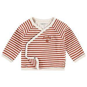 Noppies Tričko 'Adamit' hrdzavo červená / biela ako vlna vyobraziť