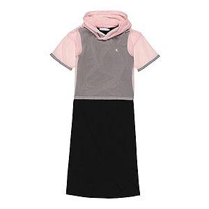 Calvin Klein Jeans Šaty '2 IN 1 MESH LAYER DRESS' čierna / staroružová vyobraziť