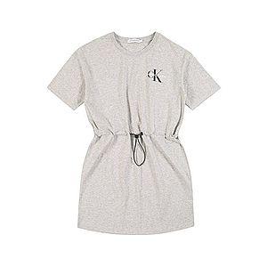 Calvin Klein Jeans Šaty sivá melírovaná vyobraziť