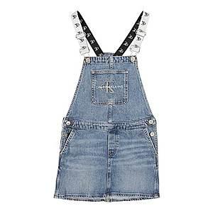 Calvin Klein Jeans Šaty 'DUNGAREE' modrá denim vyobraziť