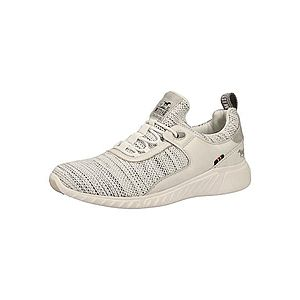 MUSTANG Športové šnurovacie topánky biela / béžová vyobraziť
