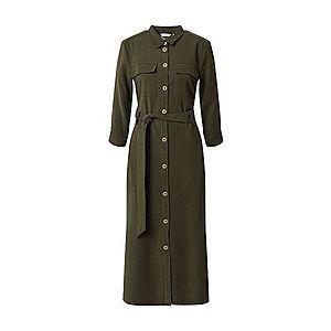 TOM TAILOR Košeľové šaty zelená vyobraziť