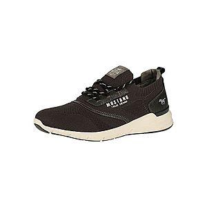 MUSTANG Športové šnurovacie topánky biela / sivá / čierna vyobraziť