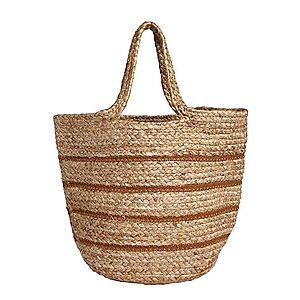 Samsoe Samsoe Plážová taška hnedá / béžová vyobraziť