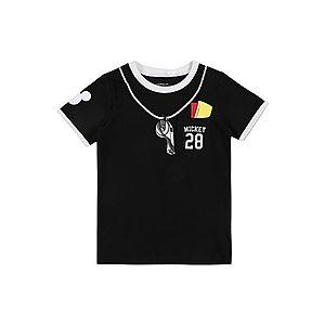 NAME IT Tričko 'Mickey Mouse' čierna / biela / žlté / červené / sivá vyobraziť