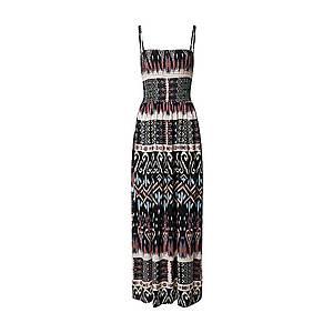 JACQUELINE de YONG Plážové šaty 'TRAVIS' biela / čierna / modré / hnedé vyobraziť