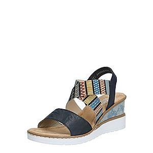 RIEKER Sandále zmiešané farby / čierna vyobraziť