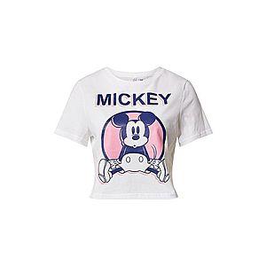 ONLY Tričko 'MICKEY' biela / ružová vyobraziť