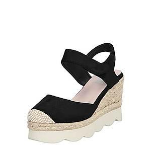 Xti Remienkové sandále piesková / čierna vyobraziť