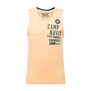 CAMP DAVID Tričko oranžová / čierna vyobraziť