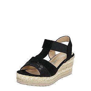 Refresh Sandále čierna / piesková vyobraziť