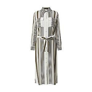 SISTERS POINT Košeľové šaty 'ISABEL-L.SH' biela / kaki vyobraziť
