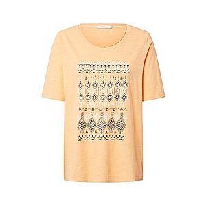 CECIL Tričko čierna / biela / oranžová vyobraziť