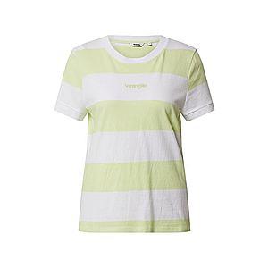 WRANGLER Tričko žlté / biela vyobraziť