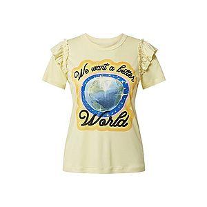 CALIDA Tričko 'Viktor & Rolf' čierna / modré / pastelovo žltá / citrónová vyobraziť