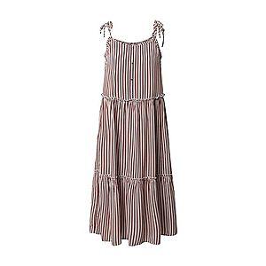 ONLY Letné šaty 'ONLFABULOUS STRAP MIDI DRESS WVN' šedobiela / červená vyobraziť