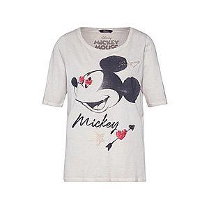 PRINCESS GOES HOLLYWOOD Tričko 'Disney Mickey washed halfsleev' čierna / béžová vyobraziť