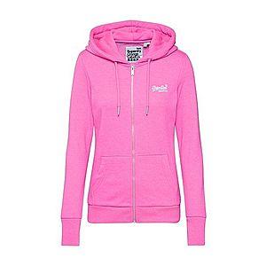 Superdry Tepláková bunda ružová vyobraziť