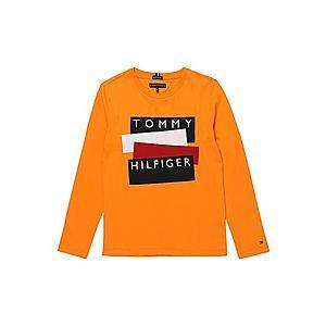 TOMMY HILFIGER Tričko oranžová / červená / biela / čierna vyobraziť