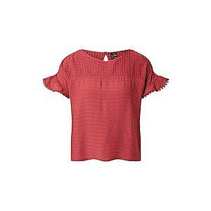 VERO MODA Tričko červené vyobraziť