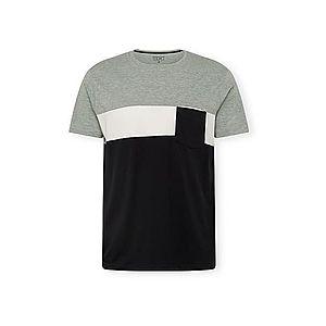 EDC BY ESPRIT Tričko čierna / sivá / biela vyobraziť