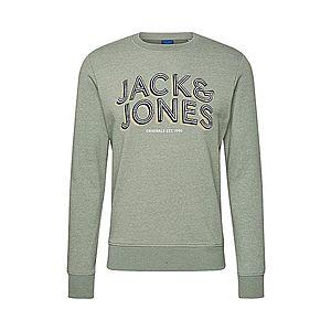 JACK & JONES Mikina pastelovo zelená / žltá / čierna / biela vyobraziť