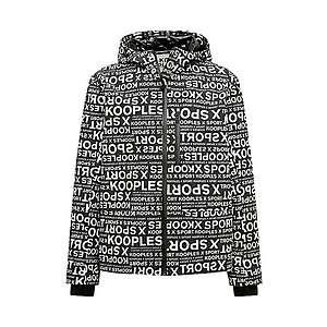 THE KOOPLES SPORT Zimná bunda 'PARK' biela / čierna vyobraziť