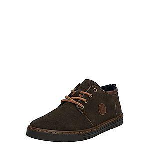 RIEKER Šnurovacie topánky hnedé / tmavosivá vyobraziť