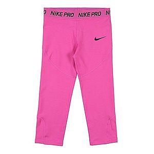 NIKE Športové nohavice čierna / ružová vyobraziť