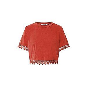 GLAMOROUS Tričko hrdzavo červená vyobraziť