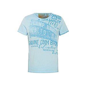 CAMP DAVID Tričko modrá / svetlomodrá vyobraziť