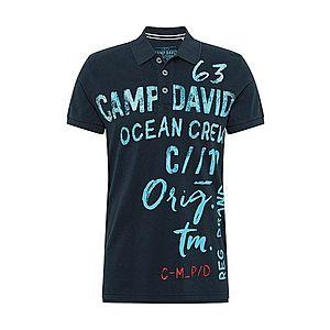 CAMP DAVID Tričko námornícka modrá / azúrová vyobraziť