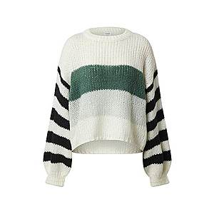 Cotton On Sveter zelená / biela / čierna vyobraziť