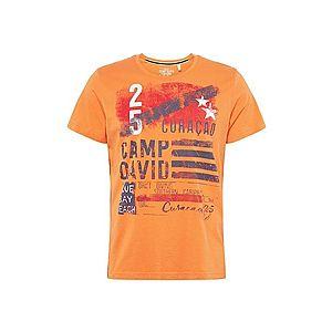 CAMP DAVID Tričko oranžová / tmavomodrá vyobraziť