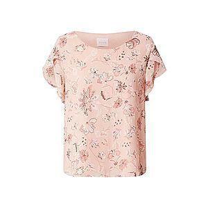 VILA Tričko ružová / ružová / biela vyobraziť