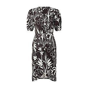 Trendyol Šaty čierna / biela vyobraziť