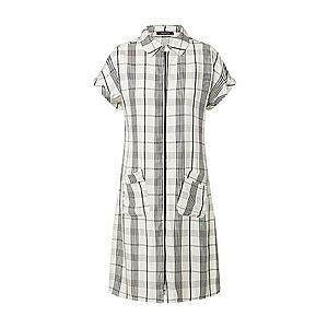 Trendyol Košeľové šaty biela / čierna vyobraziť