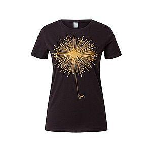 Iriedaily Tričko 'Blowball' čierna / zlatá žltá vyobraziť