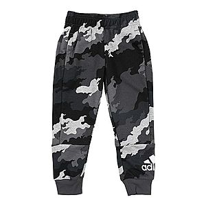 ADIDAS PERFORMANCE Športové nohavice čierna / sivá / biela vyobraziť
